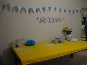 paper lettering and bunting